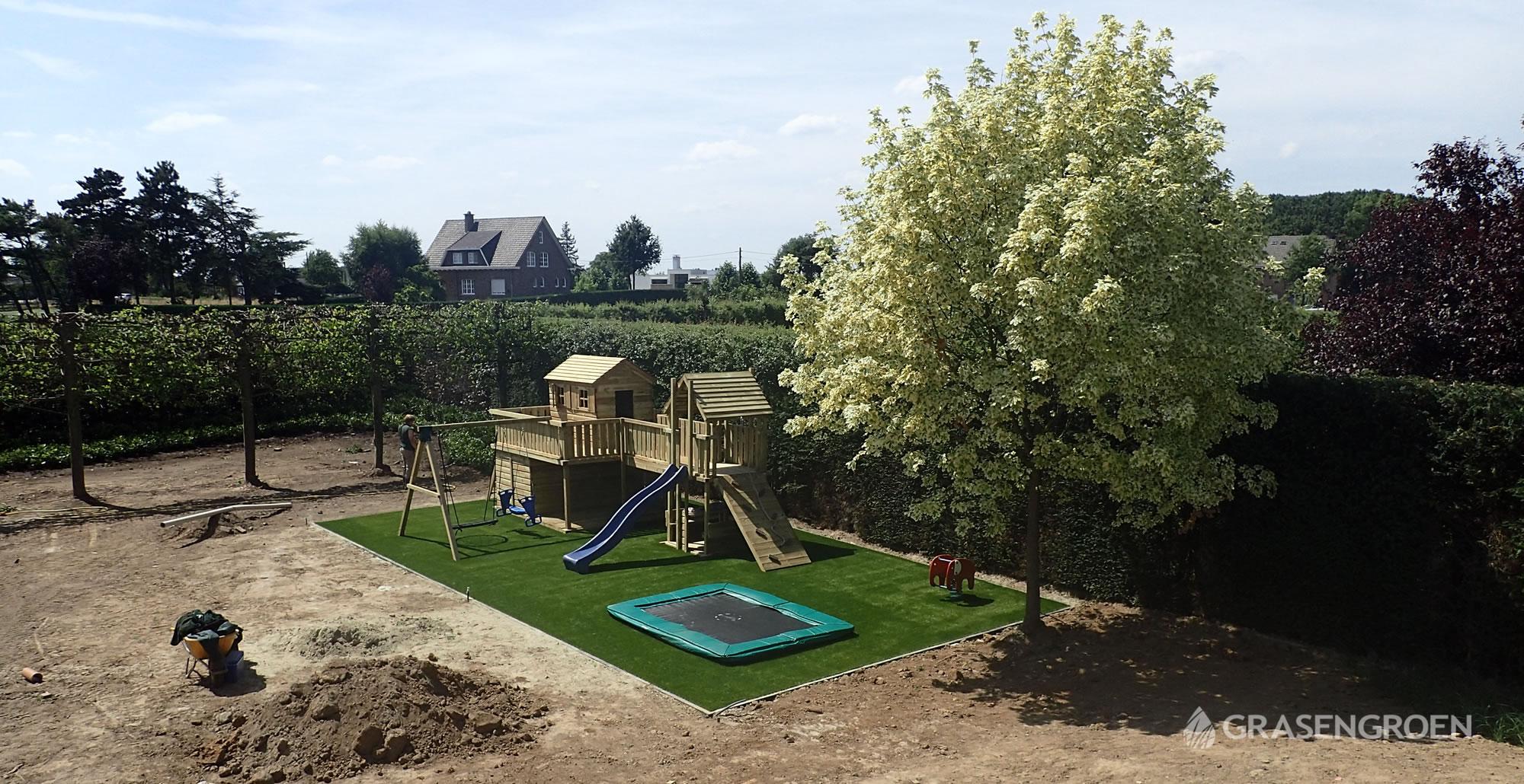 Kunstgrasleggenmaaseik18 • Gras en Groen Kunstgras