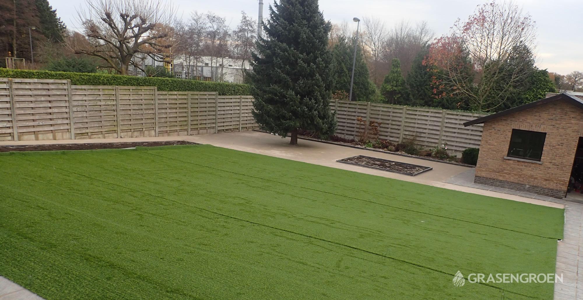 Kunstgrasleggenwuustwezel15 • Gras en Groen Kunstgras