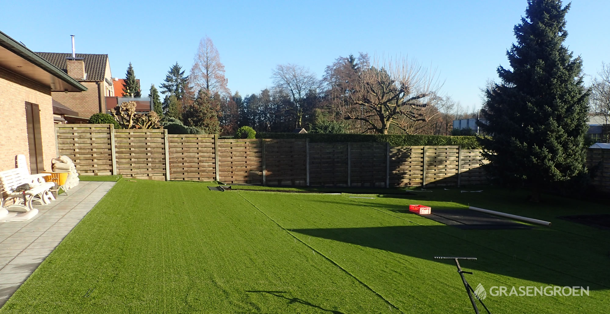 Kunstgrasleggenwuustwezel16 • Gras en Groen Kunstgras