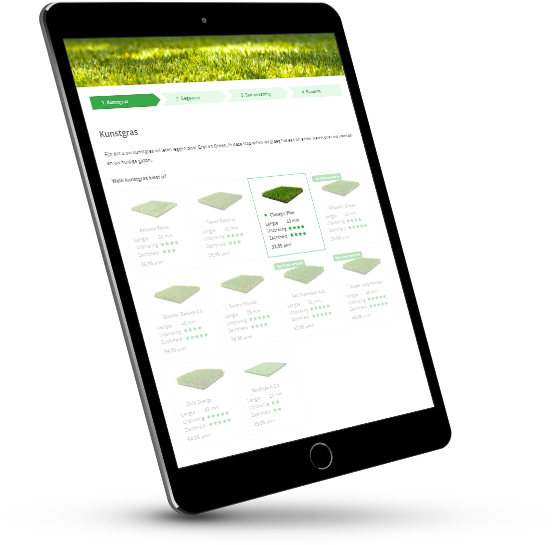 Tablet • Gras en Groen Kunstgras