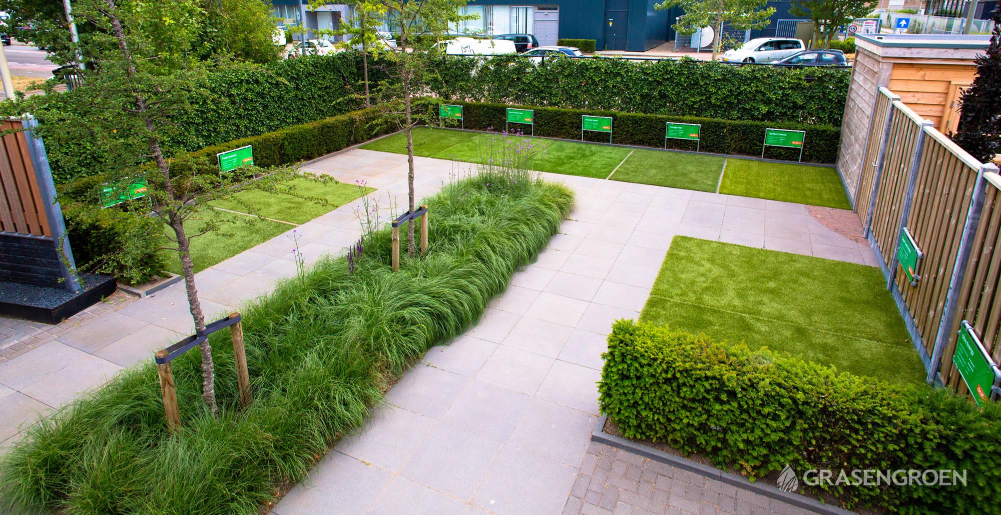 Showtuinkunstgrasslider6 • Gras en Groen Kunstgras
