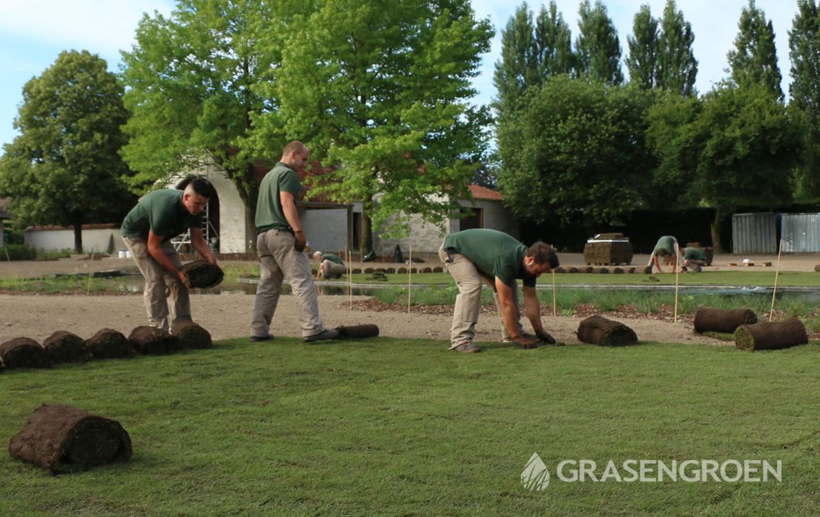 Graszodenlatenleggen2 • Gras en Groen Kunstgras